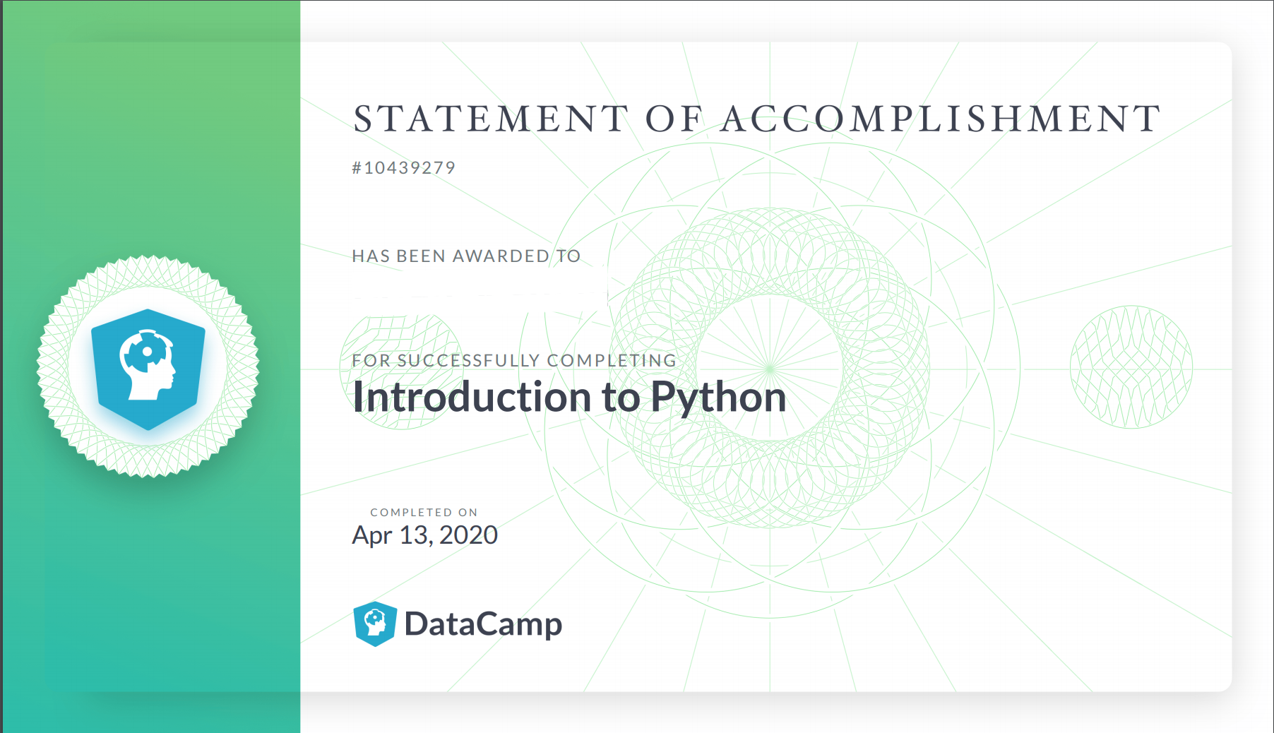 Statements of Accomplishment: Frequently Asked Questions – Support |  DataCamp